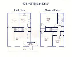 404 406 sylvan drive state college pa 16803 park forest floor plan of the 3 bedroom duplex for rent at 404 406 sylvan drive