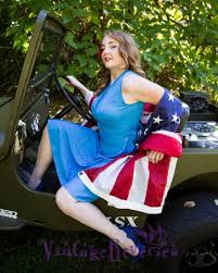 jeep pin up girls patriotic pinup with an american flag and willys jeep