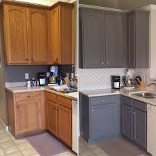 restaining oak cabinets grey mf cabinets