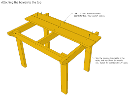 Patio Table Wood Patio Table Plans