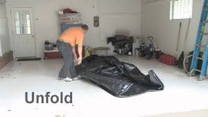 Garage Floor Snow Containment by Autofloorguard Containment Mat Installation Youtube