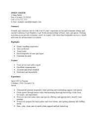 Resume Job Description For Server Hostess Job Duties Resume Sample For Fine Dining Server