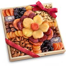 flora dried fruit and nut gift tray gourmet fruit