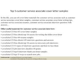 Resume For Customer Service Jobs by Top5customerserviceassociatecoverlettersamples 150621002446 Lva1 App6892 Thumbnail 4 Jpg Cb U003d1434846339