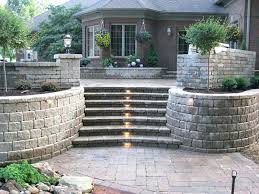 decorative concrete blocks for garden walls stamped concrete