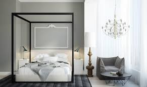 black canopy bed interior design ideas