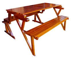 fold out picnic table elegant folding picnic table bench bamboo amp teak sanblasferry