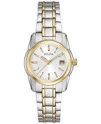 steel bracelet watches images Bulova women 39 s two tone stainless steel bracelet watch 20mm 98m105 tif