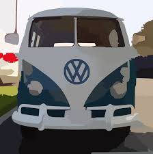 volkswagen bus art blue white vw bus straight on clip art at clker com vector clip