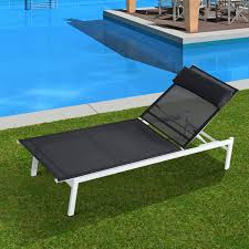 Patio Recliner Lounge Chair by Outsunny Adjustable Patio Reclining Outdoor Chaise Lounge Chair W