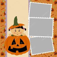halloween frame blank template for halloween photo frame u2014 stock vector embosser