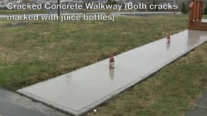 Cover Cracked Concrete Patio by Cracked Concrete Walkway Youtube