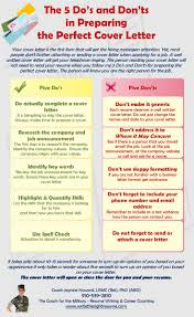 how to do a cover letter for a resume 32 best tips for writing letters images on pinterest resume tips five do s and don ts in preparing the perfect cover letter infographic cv