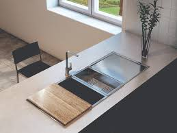 Everhard Kitchen Sinks Squareline Plus One And Half Bowl With Drainer Accessories By