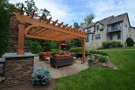 Patio Designs With Pergola patio design with pergola and fireplace sponzilli landscape group