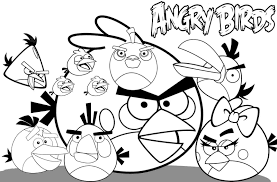 10 images of angry birds coloring pages cartoons angry birds