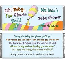 oh baby the places you ll go baby the places you ll go dr seuss baby shower 1 55 oz candy bar