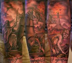 bill byers tattoos lord of the rings