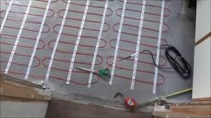 how to install underfloor heating and tile with large porcelain