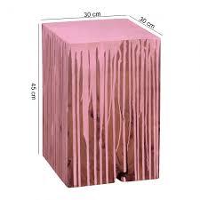 Wohnzimmertisch Uhr Wohnling Beistelltisch Dolvi Vollholz Akazie Farbverlauf Pink
