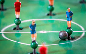 table top football games player figurines of tabletop football game stock photo by pawopa3336