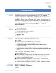 Sky Chef Jobs Chef Resume Sample Experience Resumes Templates For Sous Skills