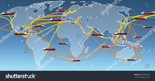 Large World Map World Sea Routes Map World Map