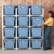 Organizer For Garage - pvc bin storage organizer for garage home pinterest bin