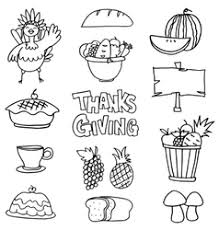 draw element thanksgiving on doodles vector image
