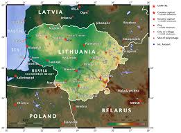 World Elevation Map by Elevation Map Of Lithuania Maps U0026 Cartographic Material Pinterest