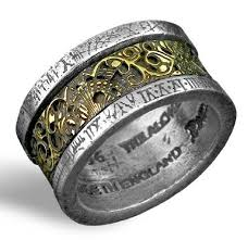 Gothic Wedding Rings by Dragonweave Jewelry