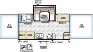 Rockwood Trailers Floor Plans 2017 Forest River Rockwood Hw277 Folding Camper Mesa Az Little
