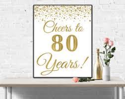 80th Birthday Party Decorations 80th Birthday Party Etsy