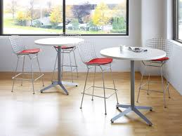 Bar Stool With Cushion Knoll International Bertoia Barstool With Cushion Satin Chrome