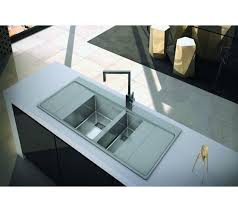 double drainer kitchen sink modern clearwater xeron kitchen sinks 1 5 bowl double drainer