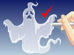 How To Draw A Halloween Bat Step By Step by 3 Ways To Draw A Ghost Wikihow