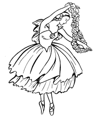 Dancing Coloring Pages For Girls Free Printable Coloring Pages For Ballerina Printable Coloring Pages