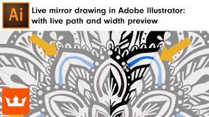 pattern drawing illustrator live mirror drawing in adobe illustrator live path and width