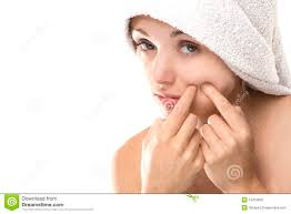 Face Mapping Pimples Pimple Spot On Beauty Woman Face Stock Photo Image 10419660