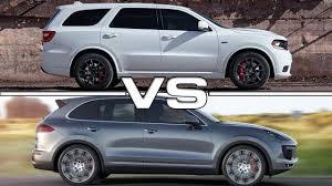 porsche cayenne turbo vs turbo s 2018 dodge durango srt vs 2015 porsche cayenne turbo s