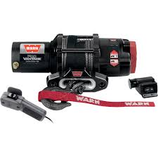 warn provantage 3500 series 12 volt dc powered electric atv winch