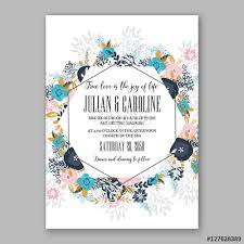 Christmas Baby Shower Invitations - wedding invitation template with watercolor winter flower