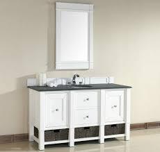 Inch White Single Sink Bathroom Vanity Optional Countertops - White single sink bathroom vanity