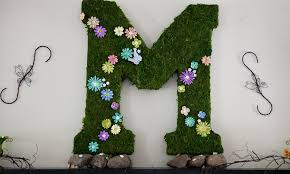moss covered letters mossed letters initials wedding for front door with lights uk moss