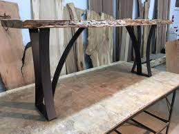 Metal And Wood Sofa Table by Steel Sofa Table Base Ohiowoodlands Metal Table Legs Console