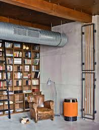 Loft Shelving by Eclectic Loft Apartment In Budapest By Shay Sabag