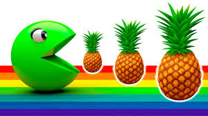 fruits and vegetables for kids with pacman learn fruit names
