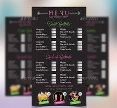 menu bar templates cocktail menu templates 54 free psd eps documents