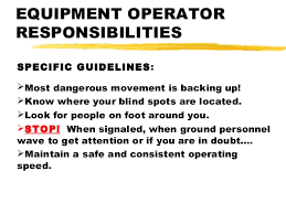 light equipment operator job description osha construction safety for vehicles mobile equipment and machinery