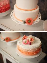 coral wedding cakes cheerful wedding inspiration in coral and gray